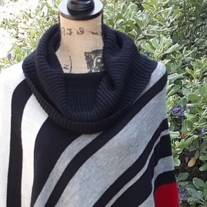 Cowl Poncho Sweater size S